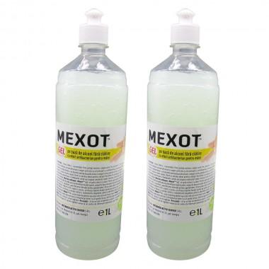 Pachet 2buc. Mexot - Gel Dezinfectant pentru maini cu alcool, fara clatire, 1l